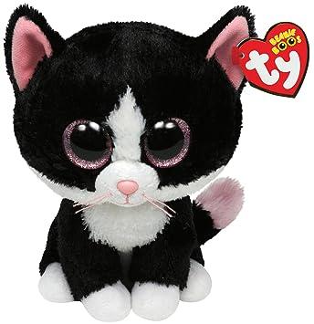 Ty 7136924 Beanie Boos - Gato de peluche (21,5 cm), color blanco y negro [importado de Alemania]: Amazon.es: Juguetes y juegos