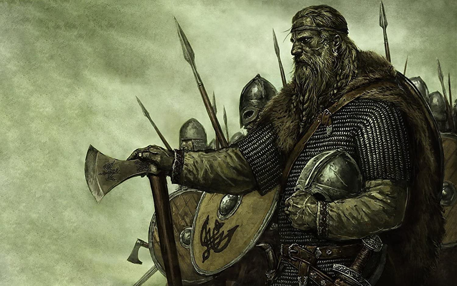 Amazon Com Real Hand Painted Viking Warriors Canvas Oil Painting For Home Wall Art Decoration Not A Print Giclee Poster Framed Ready To Hang Posters Prints