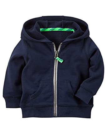 19dd065c7cde Amazon.com  Carter s Baby Boys  French Terry Hood Cardigan (Navy ...