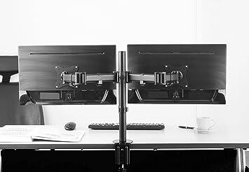 Ricoo support pc pour ecrans ts double bras orientable