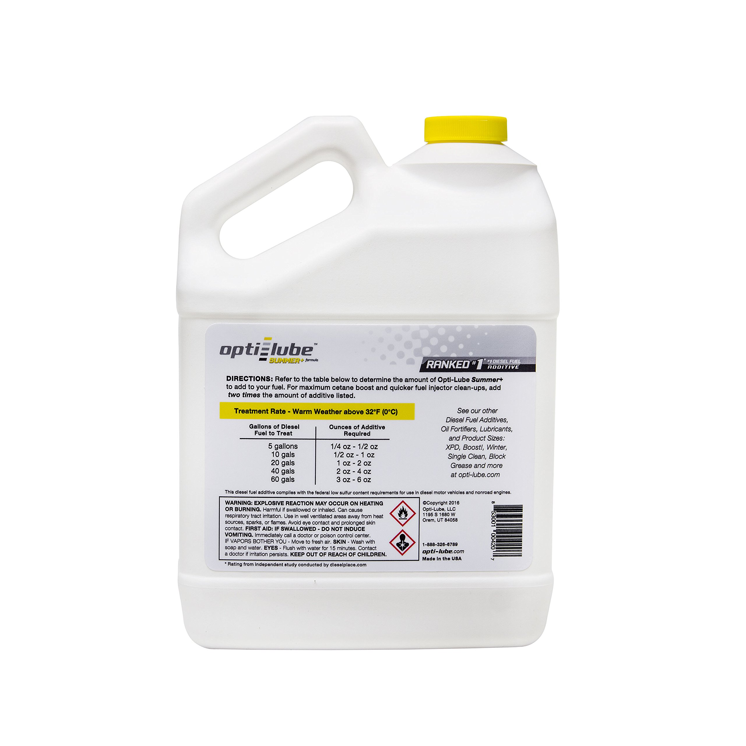 Opti-Lube Summer+ Formula Diesel Fuel Additive: 1 Gallon without Accessories Treats up to 2,560 Gallons by Opti-Lube