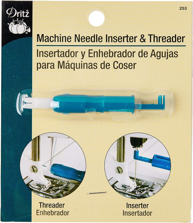 Dritz máquina de Coser inserción de Metal y Threader-: Amazon.es ...