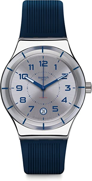 Swatch Reloj Digital para Hombre de Automático con Correa en Silicona YIS409