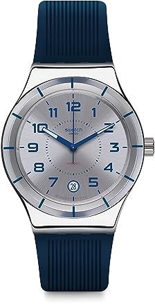 Swatch Reloj Digital para Hombre de Automático con Correa en Silicona YIS409: Amazon.es: Relojes