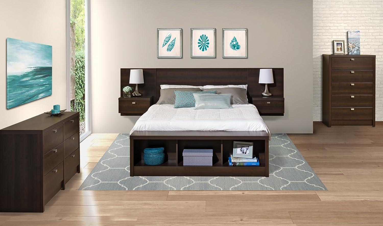 Contemporary Platform Bed shelf