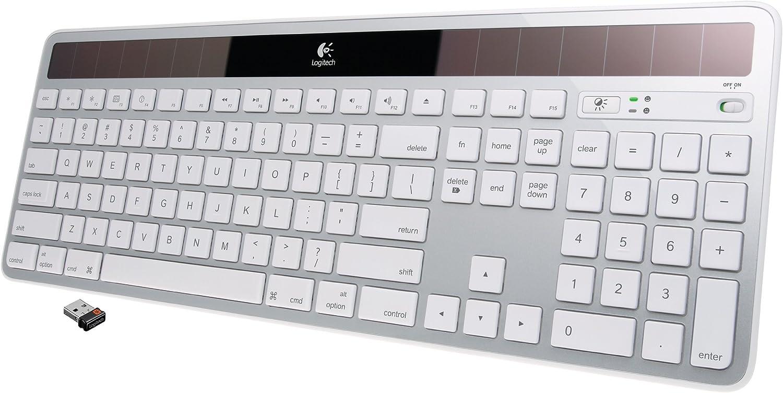 Logitech K750 - Teclado solar inalámbrico para Mac, color plateado