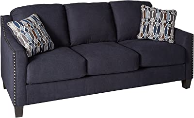 Benchcraft - Creeal Heights Contemporary Upholstered Sofa - Ink Blue
