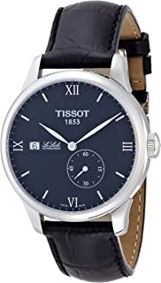 Tissot Le Locle Black Dial Stainless Steel Leather Mens Watch T0064281605800