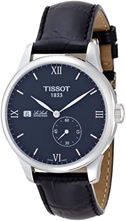 8ca2d8d9d Tissot Le Locle Black Dial Stainless Steel Leather Men's Watch  T0064281605800