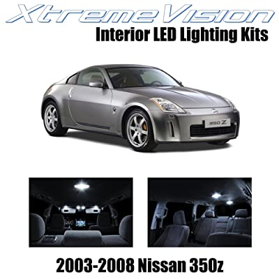 XtremeVision Interior LED for Nissan 350Z 2003-2008 (5 Pieces) Pure White Interior LED Kit + Installation Tool: Automotive