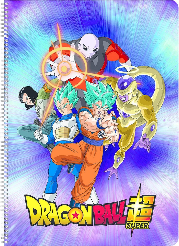 Clairefontaine 812801C copertina con colori assortiti Quaderno a spirale Dragon Ball Super 100 pagine 21 x 29,7 cm a righe con margine