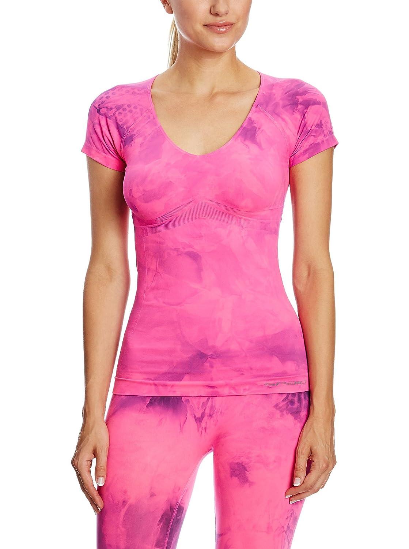 SPAIO ® Fitness Camiseta de Mujer, Rosa Fluorescente, S/M