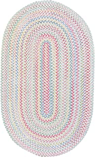 product image for Capel Rugs Baby's Breath 8 x 11 Oval Braided Area Rug (Natural)