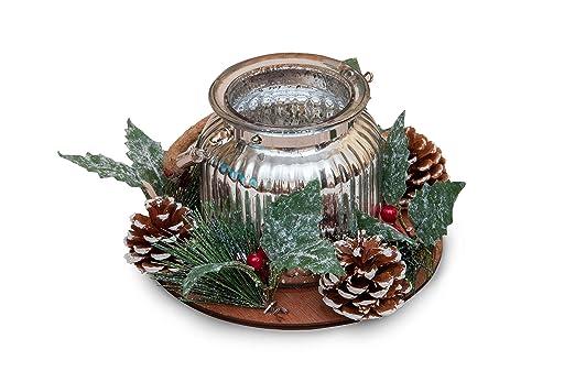 GoldenHome - Portavelas Shinny - Idea Regalo Navidad - Centro de ...