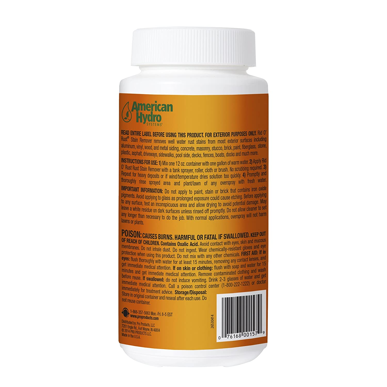 American sistemas Hydro 2653 Rid o óxido óxido quitamanchas en polvo, 12-Ounce Tub: Amazon.es: Jardín