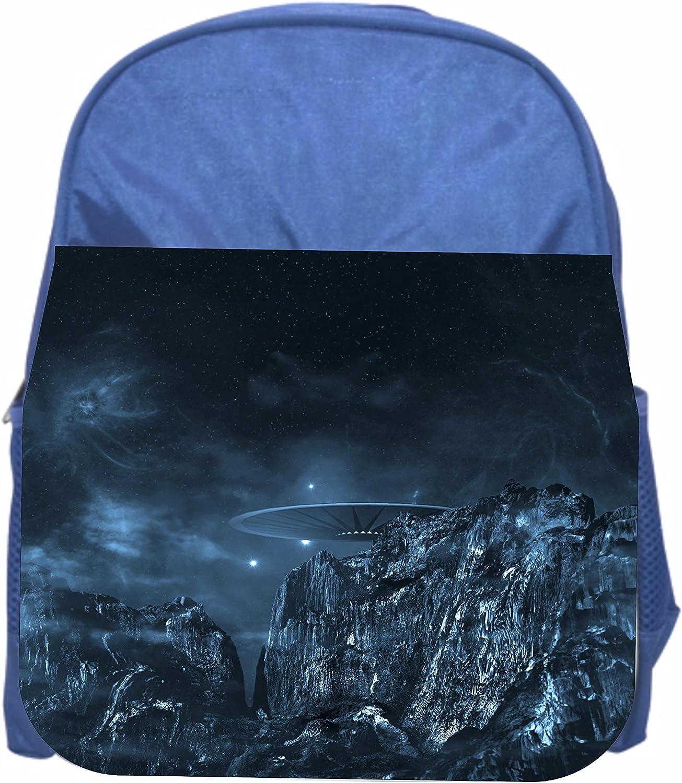 Space UFO Girls Blue Preschool Toddler Childrens Backpack /& Lunch Box Set