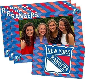 NHL Magnetic Frame & Bonus Magnet, 3 Pack, Blue, 4-inch by 6-inch