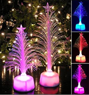 yezijin christmas decoration lamp merry led color changing mini christmas xmas tree home table party