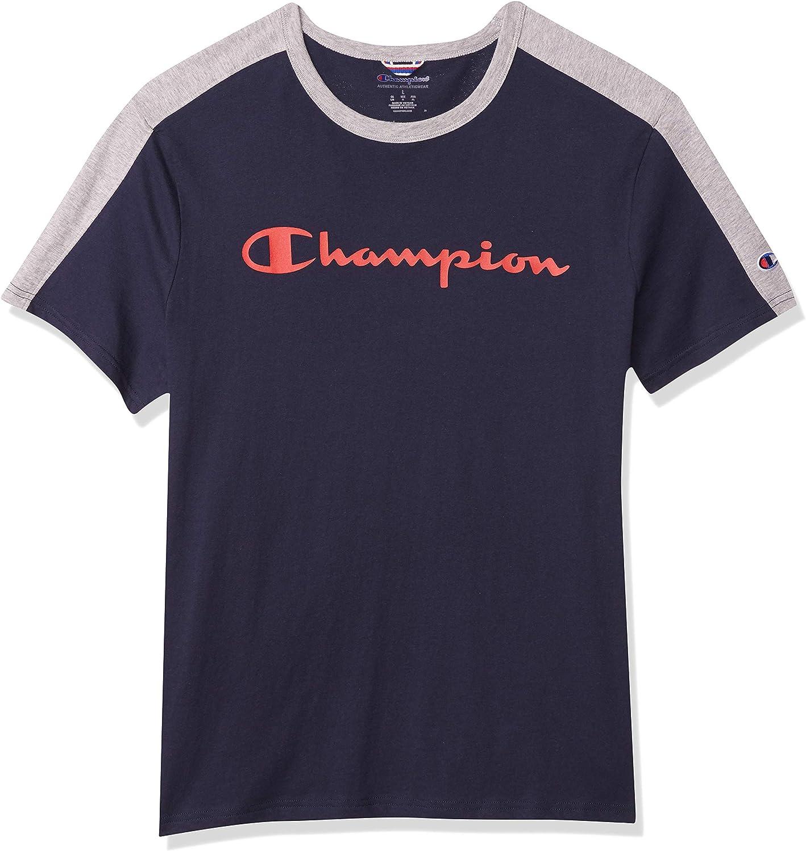 Details about  /Champion Mens Colorblock Tee T-Shirt Athletics Sportstyle Cotton Authentic S-2XL
