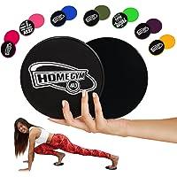 HomeGym 4U Ensemble de 2 disques de fitness glissants, Double face pour entrainements abdominaux sur tapis ou sur parquet, Equipement pour exercices corporels, le crossfit , le cardio, les abdominaux