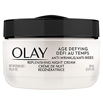 OLAY Age Defying Anti-Wrinkle Replenishing Night Cream 2 oz (Pack of 2) (6 Pack) NICKA K Long Lasting Hydro Care Lip Balm Lemon