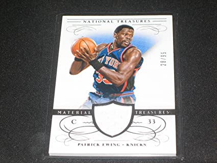 competitive price 9b24e ff47a Amazon.com: Patrick Ewing Legend Certified Authentic Game ...