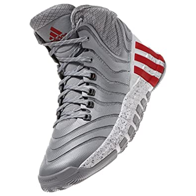 hot sale online 033d2 18781 adidas Damian Lillard Adipure Crazyquick 2 G98406 GreyRed Mens Basketball  Shoes (Size 11