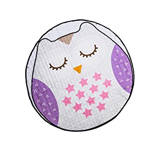 Amazinggirl Baby Sdraietto per Neonati Grande Imbottito per Neonato Coperta per Bambini Tappeto per Bambini Sacchetto per Pulizia 150cm (Gufo)