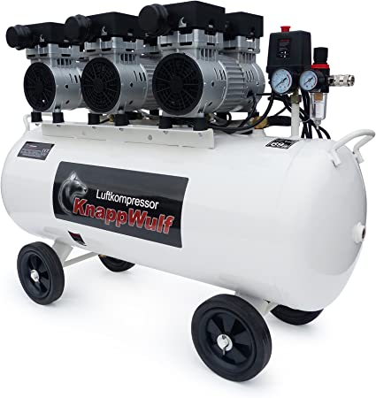 Knappwulf Flüster Kompressor Luftdruckkompressor Kw2100 Mit 100l Kessel 3 Motoren A 750w Baumarkt