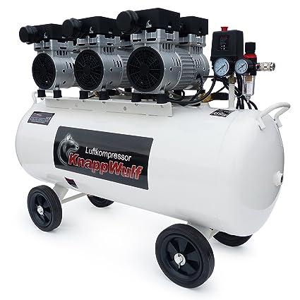 Compresor de aire KnappWulf KW2100 Con caldera de 100 litros y 3 motores de 750 vatios