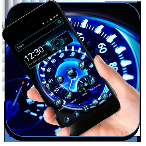 Futuristic Speedometer Theme & Live wallpaper