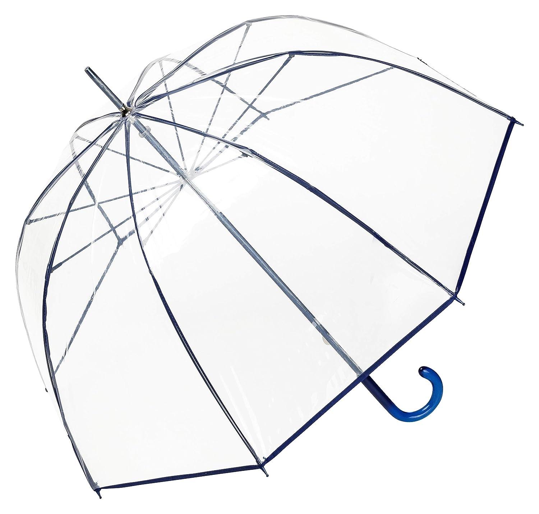 VON LILIENFELD Regenschirm Glockenschirm transparent/durchsichtig Damen Herren Melina blau