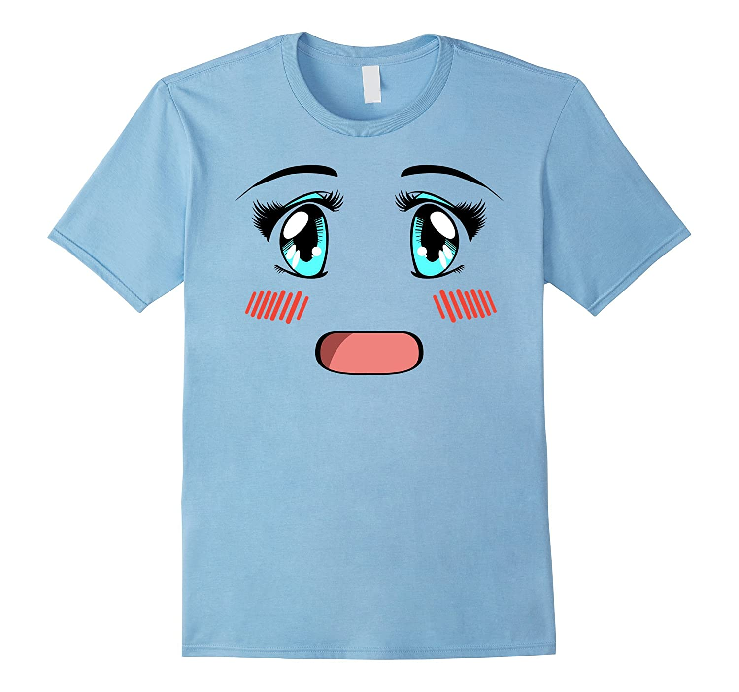 Cute Anime Girl Face T Shirt. Anime Manga Lover Gifts-Protee