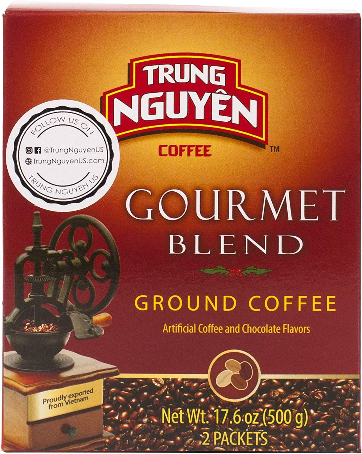 Trung Nguyen Gourmet Blend, 17.6 Oz (Pack of 2): Amazon.es ...