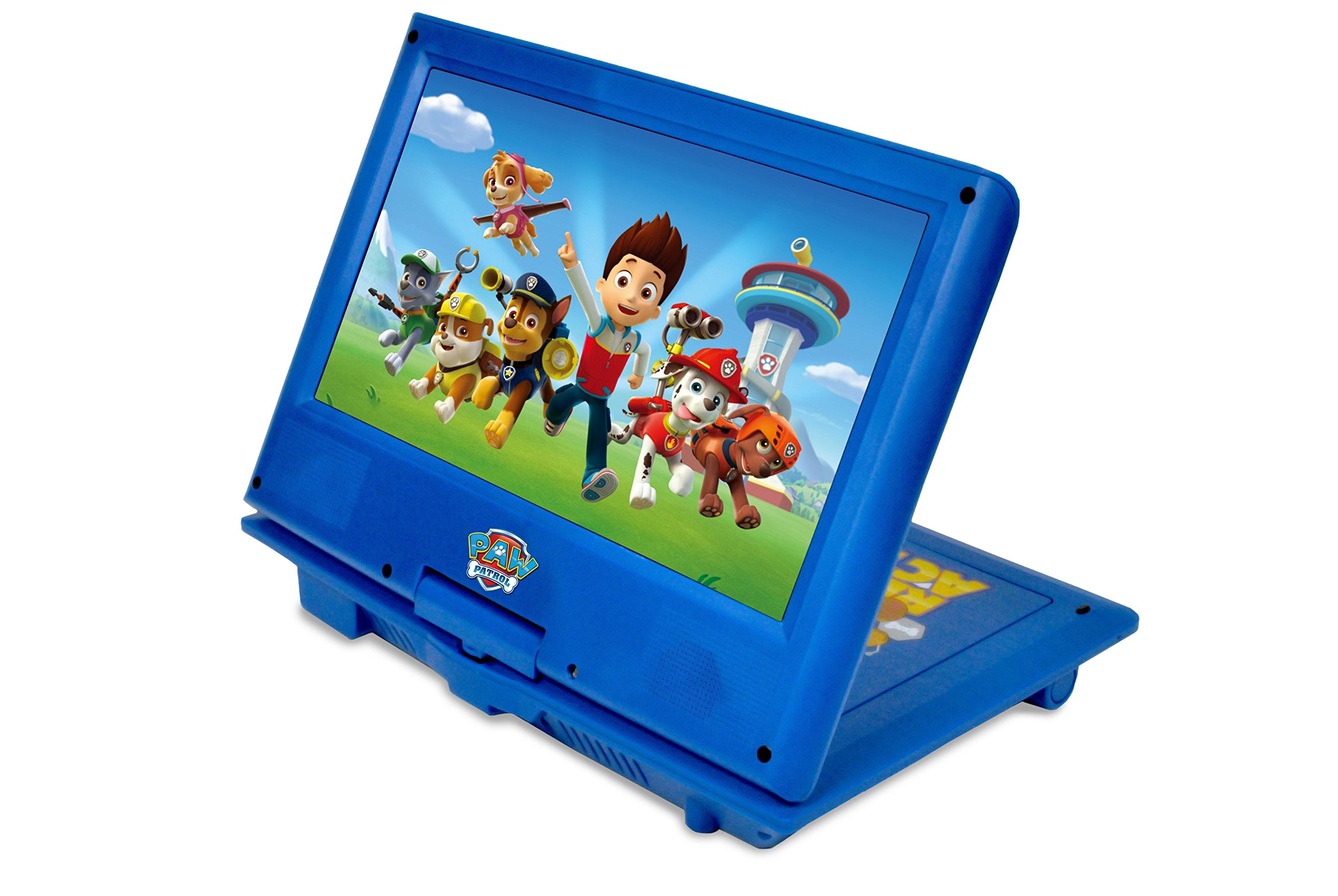 Ematic NPW7221PW Nickelodeons Paw Patrol Theme Portable DVD Player with 9-Inch Swivel Screen, Travel Bag and Headphones, Blue by Ematic (Image #4)