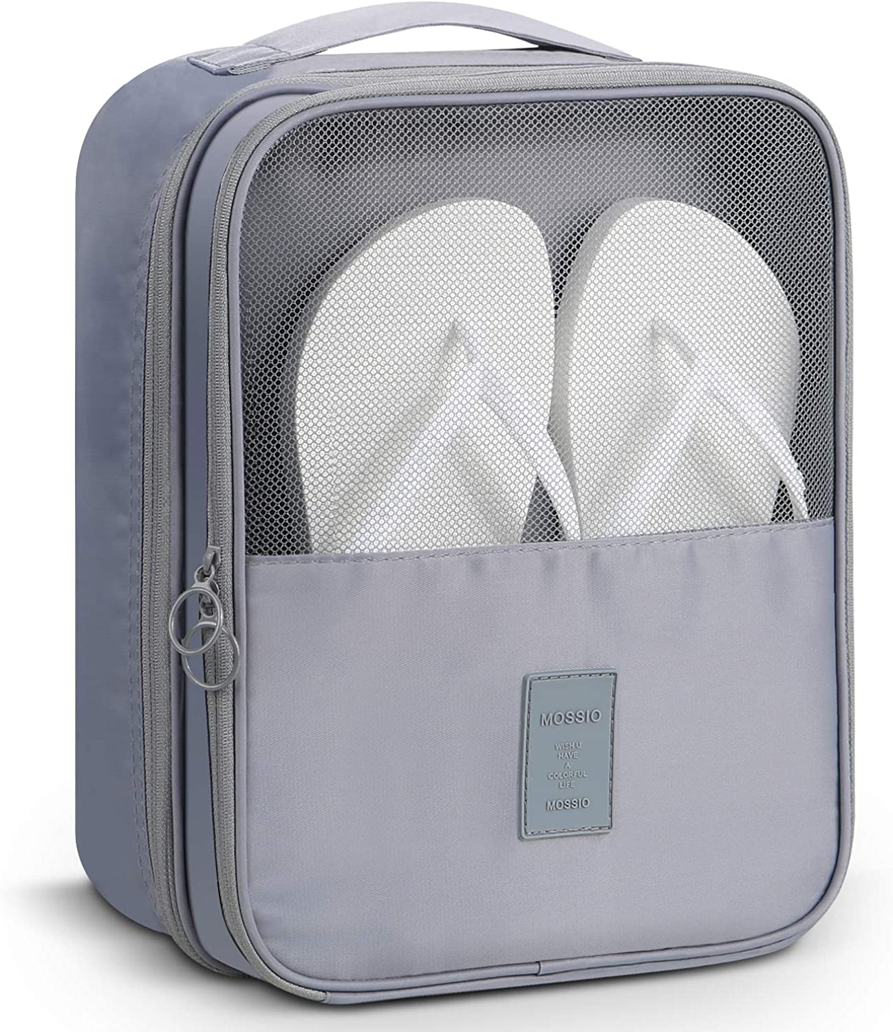 Mossio Shoe Bag Holds 3 Pair of Shoes for Travel and Daily Use Storage Pouch