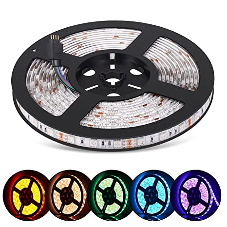 Amazon eyrelife led strip lights kit 164ft 5m dimmable led eyrelife led strip lights kit 164ft 5m dimmable led strips waterproof smd5050 rgb 300 aloadofball Image collections