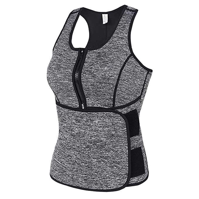 MISS MOLY Fajas Reductoras Adelgazantes Neopreno Chaleco Sauna Body Hot Shaper Camisetas de Sudoraci/ón Fitness Deportivo Vest Underbust Corset para Mujer