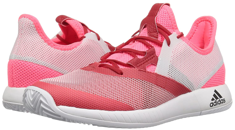 adidas Women's Adizero Defiant Bounce B077X4J4HK 5.5 M US Flash Red/White/Scarlet