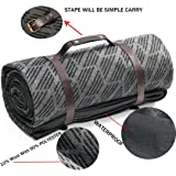 spencer&whitney Outdoor Blanket Picnic Blanket Waterproof Extra Large Outdoor Blanket with Straps 10% Wool/90% POLYESTER Portable Camping Blanket Picnic Accessories