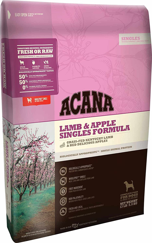 Acana Lamb and Apple Singles Formula Dog Food, 13 Pound Bag