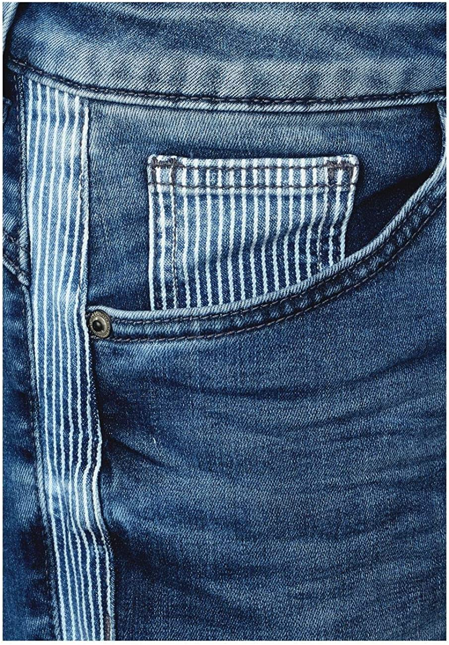 Cecil Women's Straight Jeans Multicolour (Mid Blue Used Wash 10320)