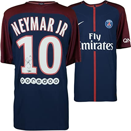 09e09a0a6bc ... Paris Saint-Germain Autographed 2017-2018 Home Jersey - Fanatics  Authentic Certified - Autographed Soccer Jerseys at Amazon s Sports  Collectibles Store