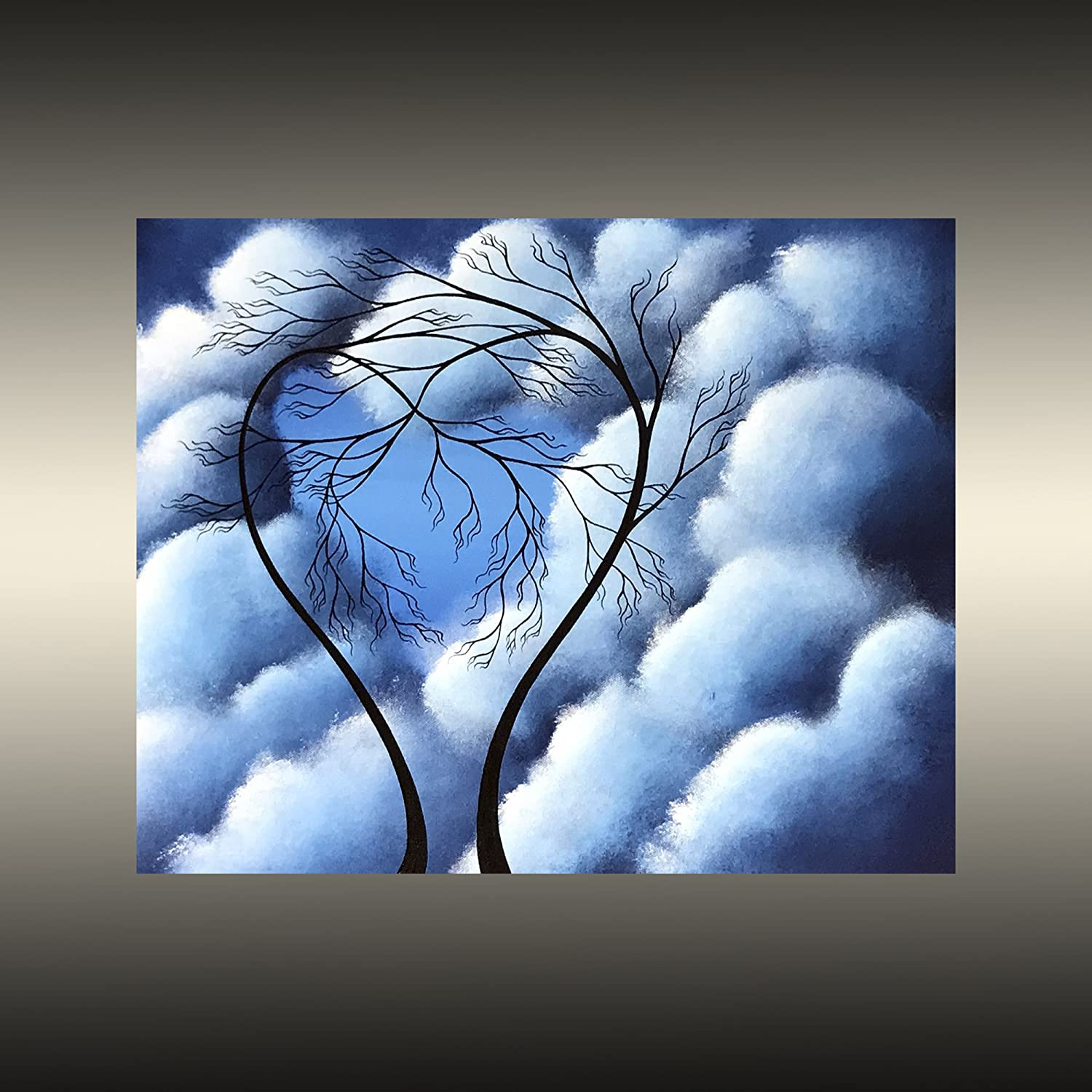 Amazon com finding love romantic tree painting by jaime best handmade