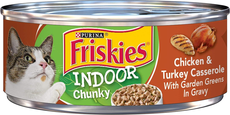 Purina Friskies Indoor Adult Wet Cat Food - (24) 5.5 oz. Cans