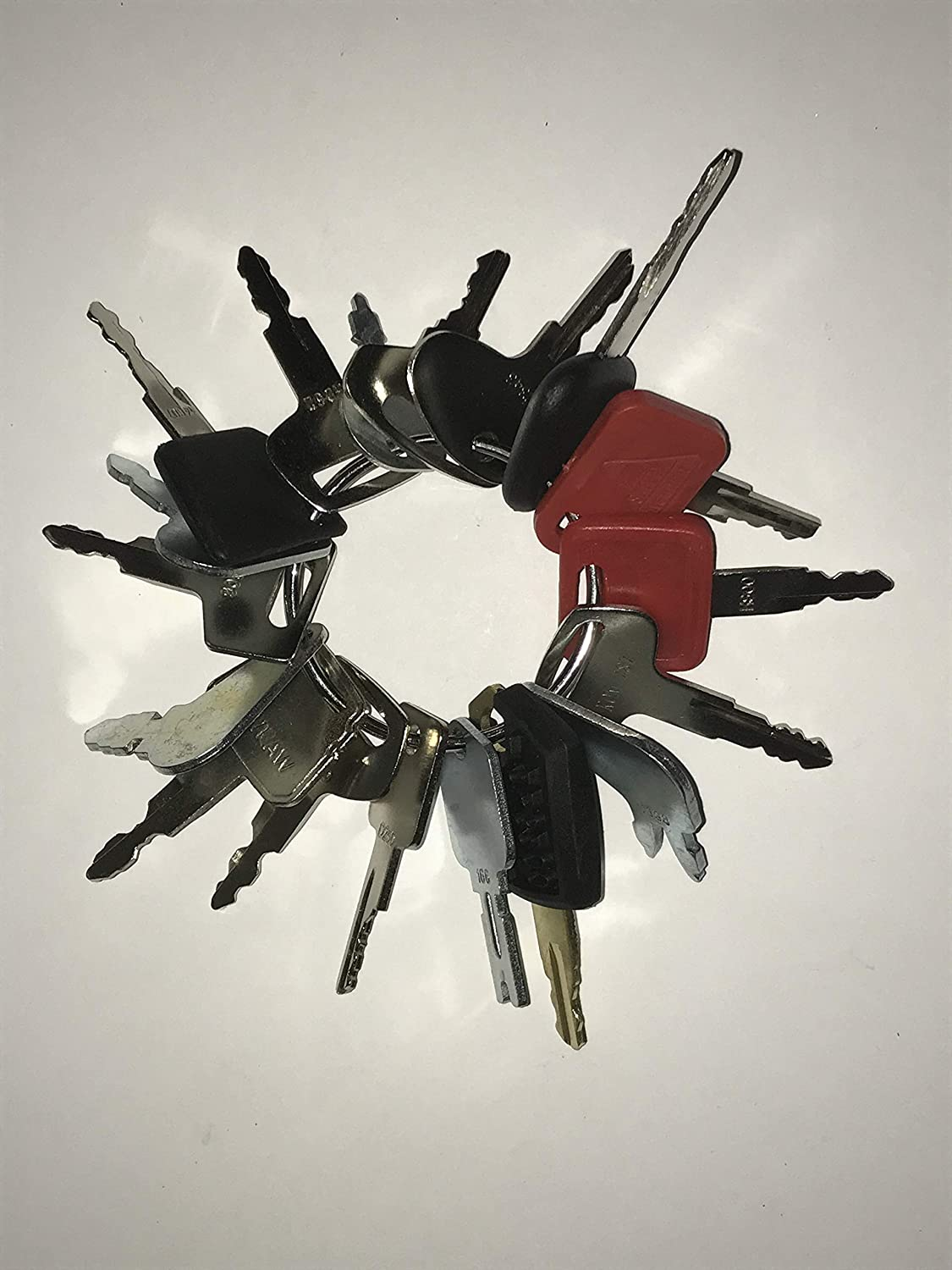Keyman 18 Keys Heavy Equipment Key Set/Construction Ignition Key Set