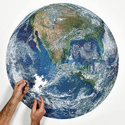 """1000 Pieces Jigsaw Puzzles for Adults - Earth, Impossible Hard Decompression Puzzles and Educational Funny Cool Game for Kids and Adults - 27.56"""" x 19.69"""": Toys & Games"""