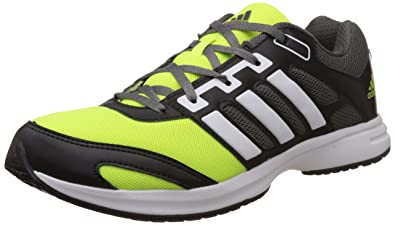 9bcfb456d Adidas Men's Kray 3.0 M Black, White and Yellow Mesh Sport Running Shoes -  10