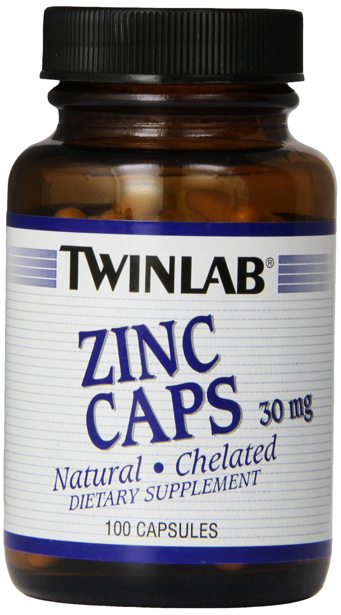 Twinlab Zinc Caps 30mg, 100 Capsules (Pack of 6)