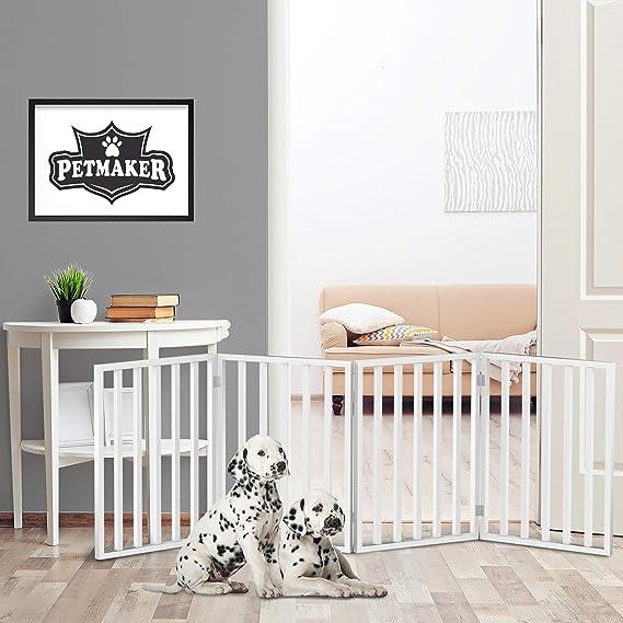 Baby Petmaker 80-62875-w4 Wooden Pet Gate
